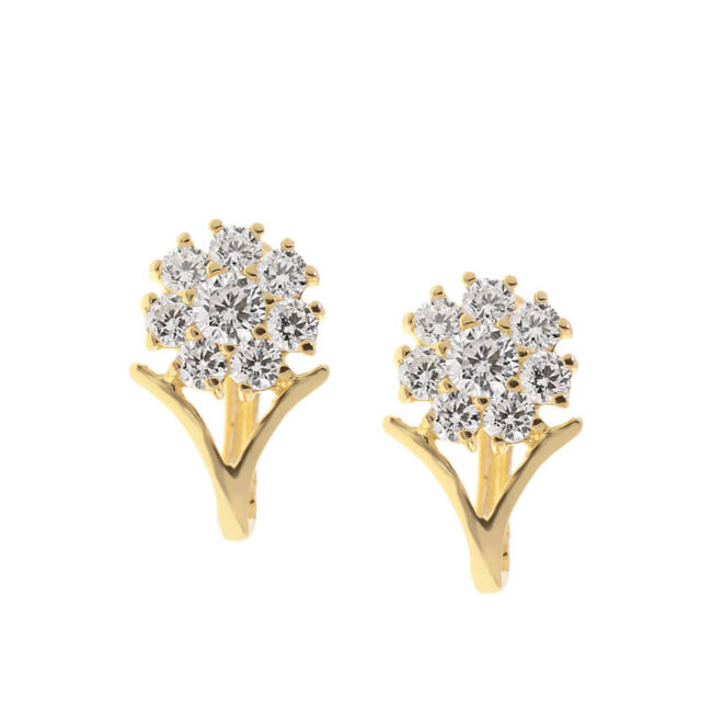 Virág bébi arany fülbevaló