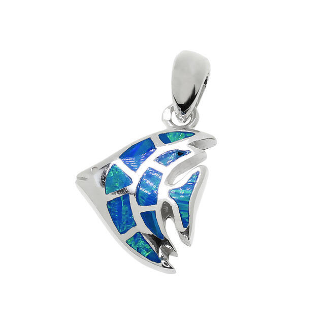 Kék opálos hal medál