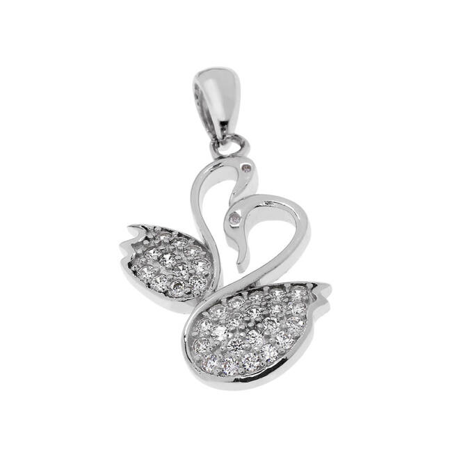 Szerelmes hattyúk ezüst medál