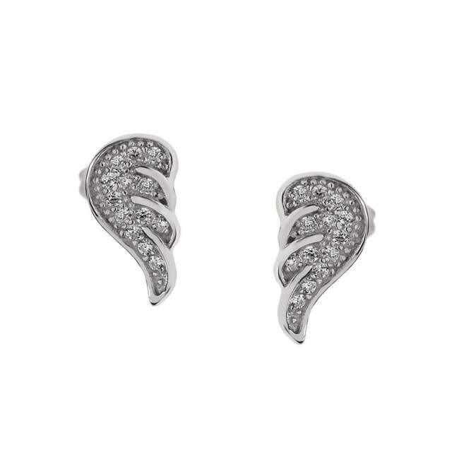 Angyalszárny ezüst fülbevaló