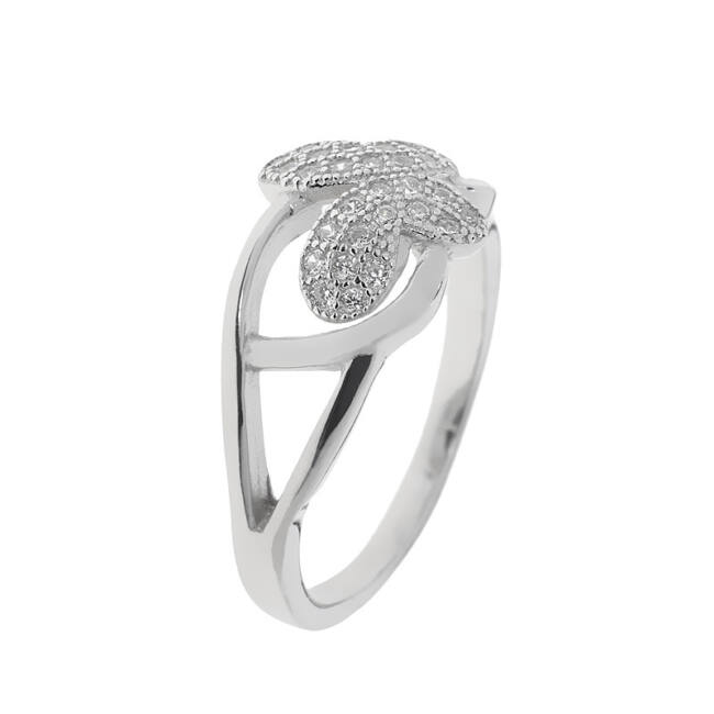 Pillangós ezüst gyűrű