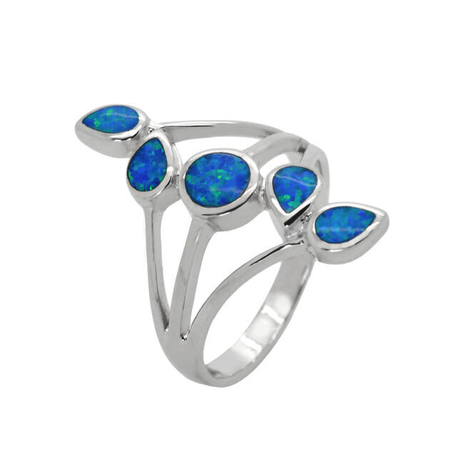 Kék opál köves gyűrű