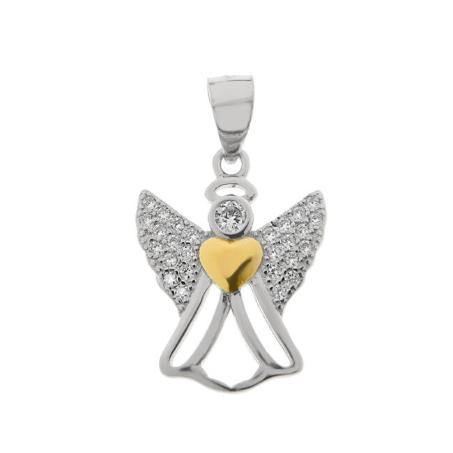 Köves angyal ezüst medál
