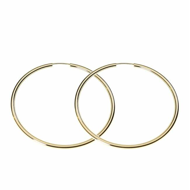 Arany karika fülbevaló - 4,6 cm