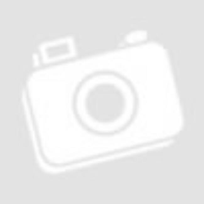 Fekete fehér virágos köves ezüst medál