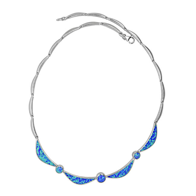 Kék opálos nyaklánc
